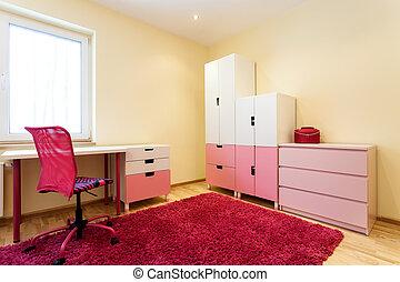 Cute pink children room - Cute little children room with...