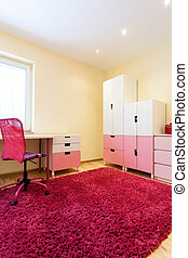 Nice pink room for girls - Nice comfortable modern room with...