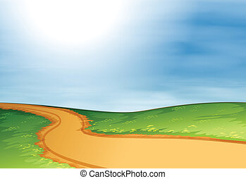 A narrow pathway - Illustration of a narrow pathway