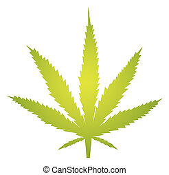 Marijuana leaf illustration - Marijuana cannabis leaf...