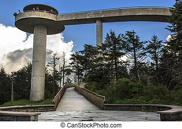 Clingmans Dome observation tower at the Great Smoky...