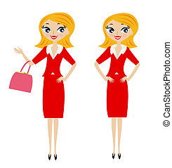 business woman in different pose