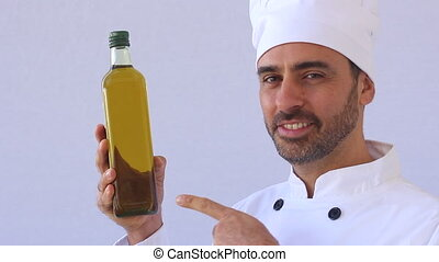Olive oil - Chef with Olive oil