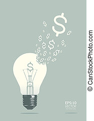 light of business concept vector