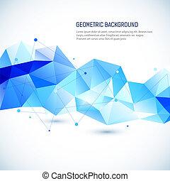 résumé, 3D, géométrique, fond