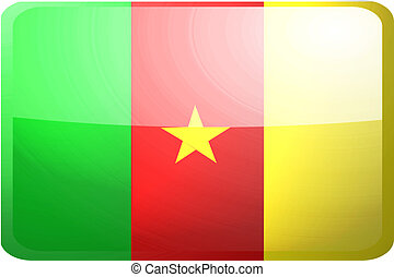 Flag of Cameroon button
