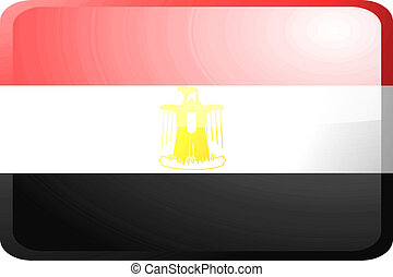 Flag of Egypt button