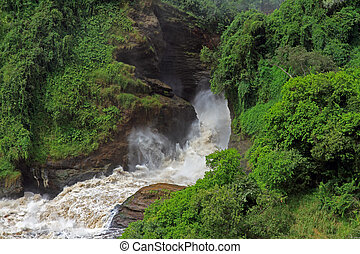 Frothy Murchison Falls Uganda - The powerful and frothy...