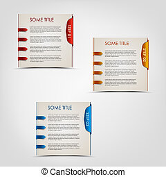 Modern steps colored labels progress background vector eps...