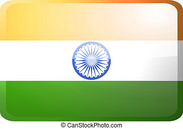 Flag of India button