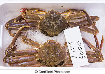 Japan stock photo crabs