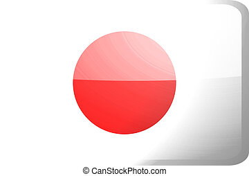 Flag of Japan button