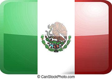 Flag of Mexico button