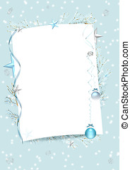 blue winter frame