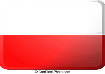 Flag of Poland button