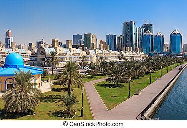 Central Souq in Sharjah City, United Arab Emirates -...