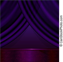 empty violet room - the abstract purple room with the violet...