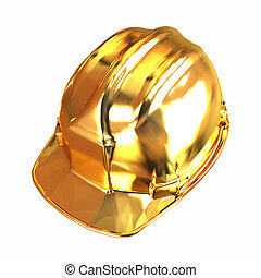gold hard hat