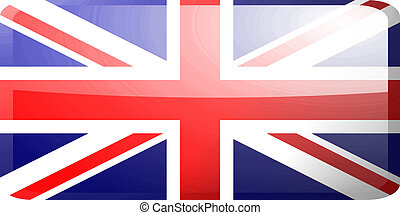 Flag of United Kingdom button - Flag of United Kingdom,...
