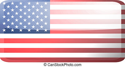 Flag of United States of America button