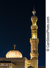 Mosque Night view  in Sharjah, United Arab Emirates