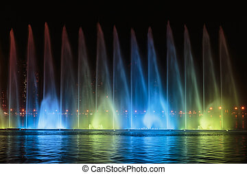 Musical fountain show in Sharjah - SHARJAH, UAE - OCTOBER...