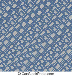 Seamless pattern for  restaurant design in stylish retro colors