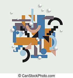 Vector geometric background in cubism style