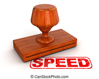 Rubber Stamp speed - Rubber Stamp speed. Image with clipping...