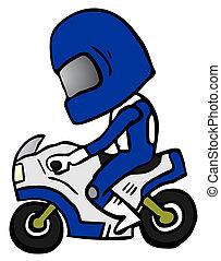 Biker cartoon - Creative design of biker catoon