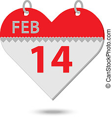 valentine calendar - valentines day calendar in the shape of...