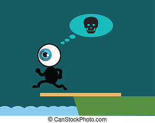 The blue eye suicide jump to sea