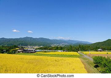 Achi village in Nagano, Japan - Achi village is located in...