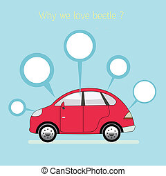 Why we love beetle. vector. eps10