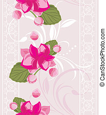 Ornamental background with flowers - Ornamental background...