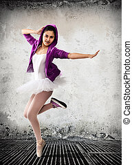 Ballet dancer, ballet concept of classic and modern