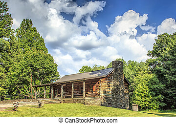 Cabin at Cades Cove - John Olivers cabin at Cades Cove in...
