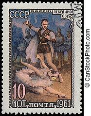 USSR-, environ, 1961:, a, timbre, imprimé, URSS,...