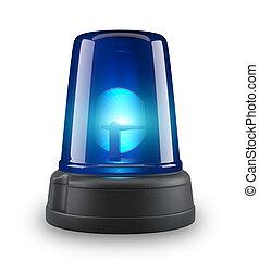 Blue siren - 3d illustration on white background