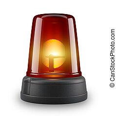 Red siren - 3d illustration on white background