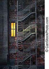 Brick wall with window