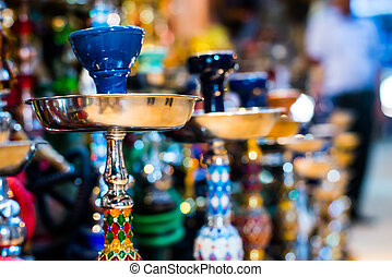 Hookah in souvenir shop at Dubai, UAE