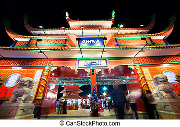 Chinese house in the Global Village, Dubai, United Arab...