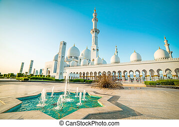Sheikh Zayed Grand Mosque in Abu-Dhabi, UAE