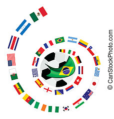 The 32 Teams in Brazil 2014 World C