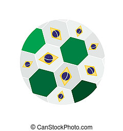 Brazilian Flags on 2014 World Cup F