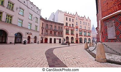 square of Krakow, the old town