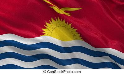 Flag of Kiribati - seamless loop - Flag of Kiribati gently...