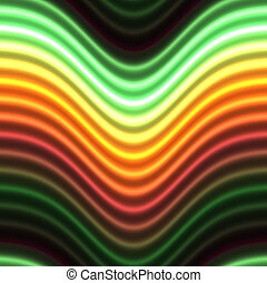 Glowing neon lines - Colorful glowing neon lines abstract...
