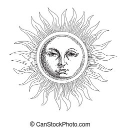 drawing the sun